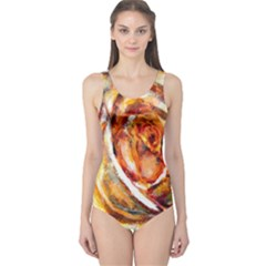 Abstract Rose Women s One Piece Swimsuits