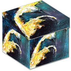 Abstract Space Nebula Storage Stool 12