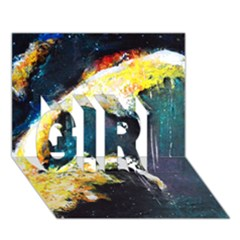 Abstract Space Nebula Girl 3d Greeting Card (7x5)
