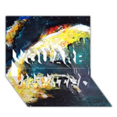 Abstract Space Nebula You Are Invited 3d Greeting Card (7x5)