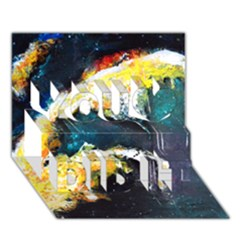 Abstract Space Nebula You Did It 3D Greeting Card (7x5)