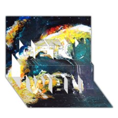Abstract Space Nebula Get Well 3D Greeting Card (7x5)