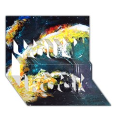 Abstract Space Nebula You Rock 3D Greeting Card (7x5)