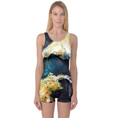 Abstract Space Nebula Women s Boyleg One Piece Swimsuits