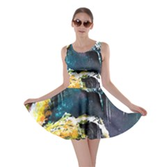 Abstract Space Nebula Skater Dresses