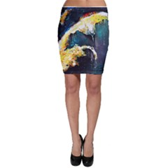 Abstract Space Nebula Bodycon Skirts