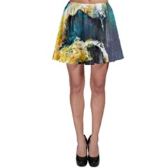 Abstract Space Nebula Skater Skirts