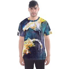 Abstract Space Nebula Men s Sport Mesh Tees