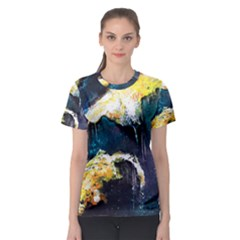 Abstract Space Nebula Women s Sport Mesh Tees