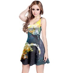 Abstract Space Nebula Reversible Sleeveless Dresses
