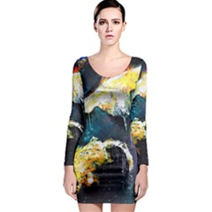 Abstract Space Nebula Long Sleeve Bodycon Dresses