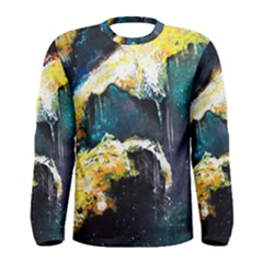 Abstract Space Nebula Men s Long Sleeve T Shirts