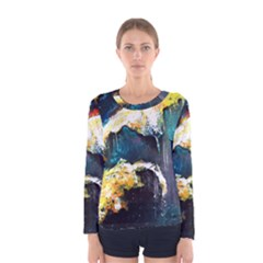 Abstract Space Nebula Women s Long Sleeve T-shirts