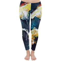 Abstract Space Nebula Winter Leggings