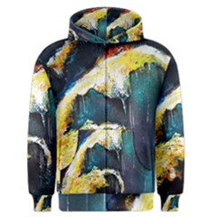 Abstract Space Nebula Men s Zipper Hoodies