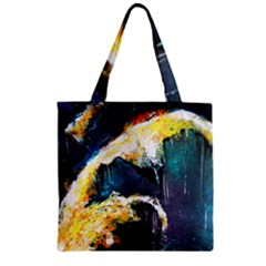 Abstract Space Nebula Zipper Grocery Tote Bags