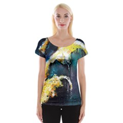 Abstract Space Nebula Women s Cap Sleeve Top