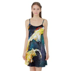 Abstract Space Nebula Satin Night Slip