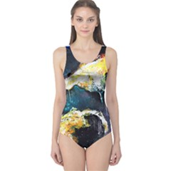 Abstract Space Nebula Women s One Piece Swimsuits