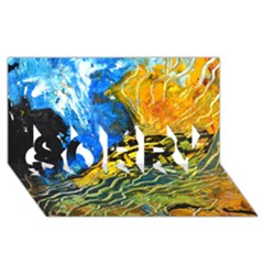 Landlines Sorry 3d Greeting Card (8x4)