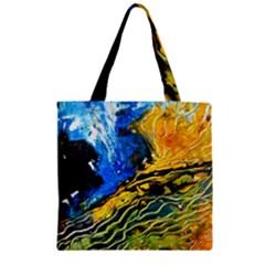 Landlines Zipper Grocery Tote Bags
