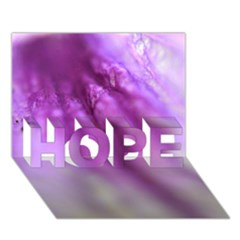 Purple Flower Pedal HOPE 3D Greeting Card (7x5)