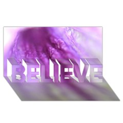 Purple Flower Pedal BELIEVE 3D Greeting Card (8x4)