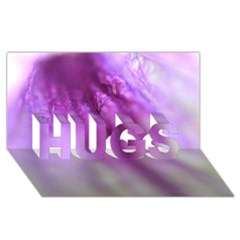 Purple Flower Pedal HUGS 3D Greeting Card (8x4)