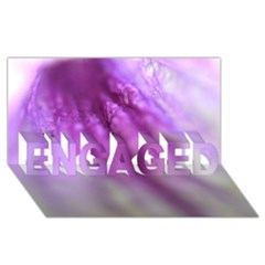 Purple Flower Pedal ENGAGED 3D Greeting Card (8x4)