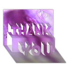Purple Flower Pedal Thank You 3d Greeting Card (7x5)