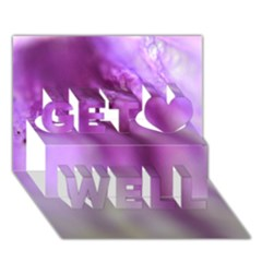 Purple Flower Pedal Get Well 3d Greeting Card (7x5)