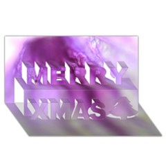 Purple Flower Pedal Merry Xmas 3d Greeting Card (8x4)