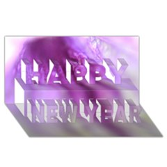 Purple Flower Pedal Happy New Year 3d Greeting Card (8x4)