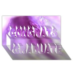 Purple Flower Pedal Congrats Graduate 3D Greeting Card (8x4)