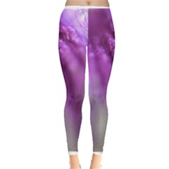 Purple Flower Pedal Women s Leggings