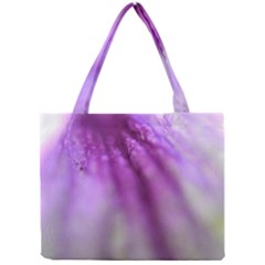 Purple Flower Pedal Tiny Tote Bags