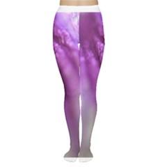 Purple Flower Pedal Women s Tights