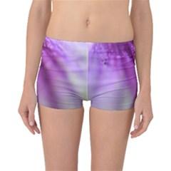 Purple Flower Pedal Boyleg Bikini Bottoms