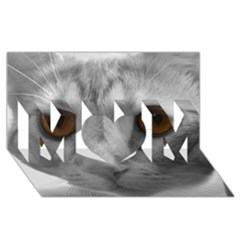 Funny Cat MOM 3D Greeting Card (8x4)