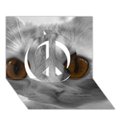Funny Cat Peace Sign 3d Greeting Card (7x5)