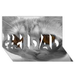 Funny Cat #1 Dad 3d Greeting Card (8x4)