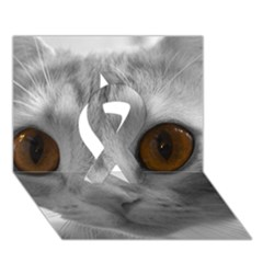 Funny Cat Ribbon 3d Greeting Card (7x5)