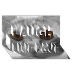 Funny Cat Laugh Live Love 3d Greeting Card (8x4)