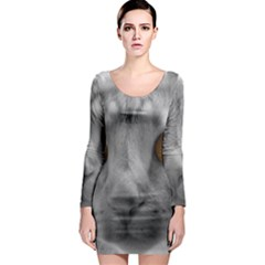 Funny Cat Long Sleeve Bodycon Dresses