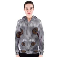 Funny Cat Women s Zipper Hoodies