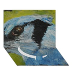 Blue Jay Circle Bottom 3D Greeting Card (7x5)