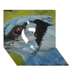 Blue Jay Ribbon 3D Greeting Card (7x5)