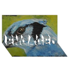 Blue Jay ENGAGED 3D Greeting Card (8x4)