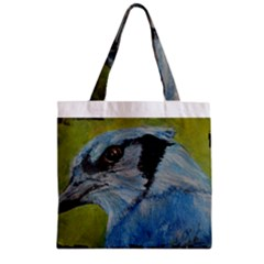 Blue Jay Zipper Grocery Tote Bags
