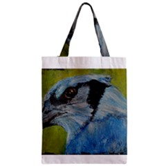 Blue Jay Zipper Classic Tote Bags
